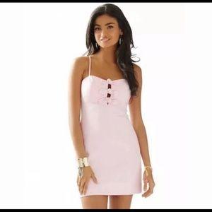Lilly Pulitzer Petra Pink Seersucker Dress Sz 00